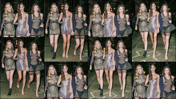 - ''•-01/05/17-' : Bella Hadid se rendait à l'after-party du MET Gala, au club : « 1OAK », dans la ville de New York. Tard en soirée, suite au grand événement qui se déroule normalement en mai, Bella Hadid et ses amies s'en allaient faire la fête. Un flop. -