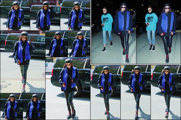 - ''•-03/05/17-' : Bella Hadid se rendait à l'appartement de sa grande s½ur Gigi Hadid, se trouvant à Manhattan. En soirée, les deux s½urs Hadid se rendait toutes les deux à l'appartement de l'aînée. Un petit top pour la belle brunette Hadid. Un avis ? -