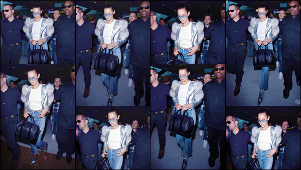 - ''•-16/05/17-' : Bella Hadid arrivait à l'aéroport de « Nice Côte-d'Azur » se trouvant situé au Sud-Est de la France. Comme à son habitude, Bella Hadid ne rate pas une occasion de se présenter au Festival de film de Cannes. J'accorde un petit top à Bella. -