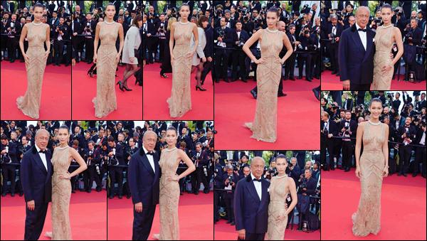 - ''•-11/05/16-' : Bella Hadid était à l'avant-première de « Café Society », lors du 69ie Festival de film de Cannes. Bella Hadid fait sa première apparition à vie sur le tapis rouge du prestigieux Festival de film de Cannes, dans une robe qui lui sied à ravir. -