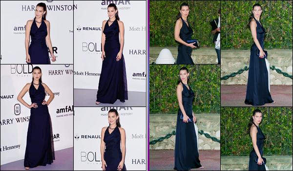 - ''•-19/05/16-' : Bella Hadid était présente au « AmfAR's 23rd Cinema Against Aids Gala », ayant lieu à Cannes. Lors de ce gala de charité, Bella Hadid a défilé dans une tenue des plus immondes et offrant une vu sur son torse. Quant à la robe, top. -