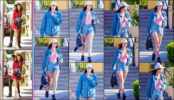 - ''•-22/05/16-' : Bella Hadid quittait le centre commercial « The Groove » et qui se trouve situé dans Calabasas. De retour à Los Angeles, Bel Hadid s'est rendue au restaurant « Il Pastio » avec son père Mohammed Hadid dans le coin de Beverly Hills. -