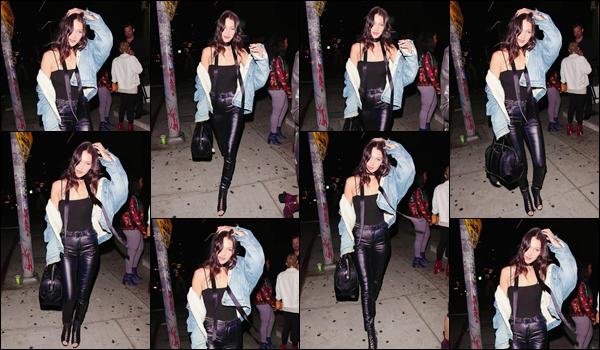 - ''•-23/05/16-' : Bella Hadid quittait le restaurant de « The Nice Guy » qui se trouve situé dans West Hollywood. Après avoir été photographiée en arrivant au restaurant-club, c'est tout sourire, que Bella Hadid quittait les lieux à West Hollywood. Top ! -