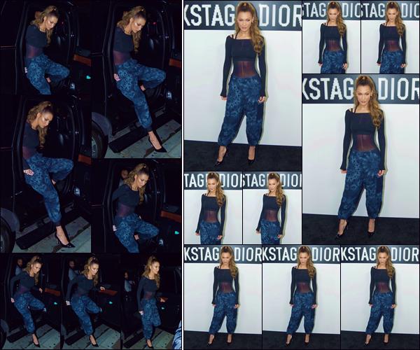 - '-• 08/05/19-''─ Bella Hadid assistait à la soirée de lancement de la marque « Backstage Dior » dans Hollywood. Après s'être rendue en journée à l'événement « Dior MakeUp » ayant lieu dans les Milk Studios, la belle brunette prend la pose à la soirée. -