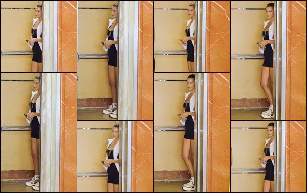 """- """"•-06/08/19-─"""": Bella Hadid a été photographiée avec une de ses amies dans un immeuble situé à Hollywood. Rentrée de ses vacances entre soeurs sur une île de la Grèce, Bella H. n'est pas rentrée directement à New York et profite de la Californie. -"""
