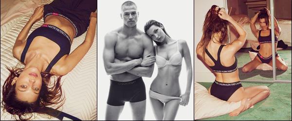 -  Calvin Klein ●- Bella Hadid prend la pose pour la campagne : « #MyCalvins » à l'occasion de l'Automne 2019 ! -
