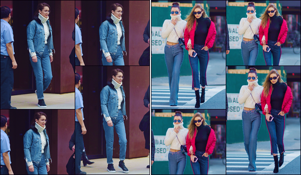- '-• 29/01/17-''─ Bella Hadid quittait l'appartement de sa grande s½ur Gigi Hadid, étant situé dans Manhattan. Dans la même journée, les deux s½urs Hadid et leur maman ont été photographiées dans les rues de la ville de New York. Deux jolis top. -