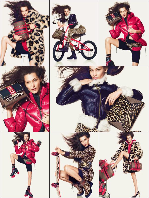 -  MK ●- En tant qu'égérie de la marque, Bella Hadid prend la pose pour la collection d'automne de « Michael Kors ». -