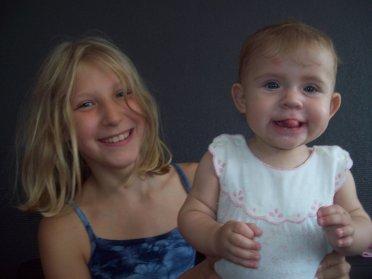 mes deux petites princesses  océane et charline