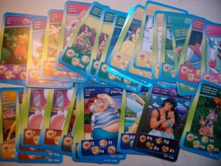 carte  doubles  disney du cora et du smatch