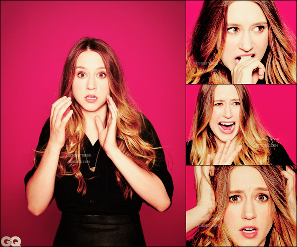 =' GQ MAGAZINE ●= Notre belle Taissa Farmiga fait la couverture du magazine pour le film « The Final Girls » !  [/alig fen]