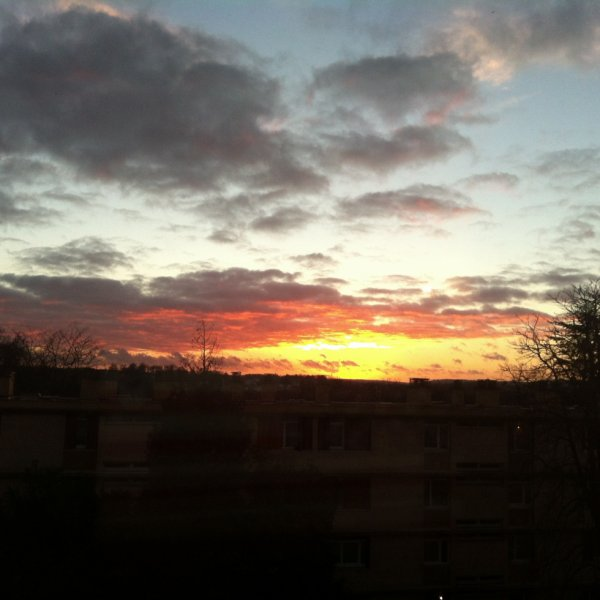 Couché de soleil de ma fenêtre =)