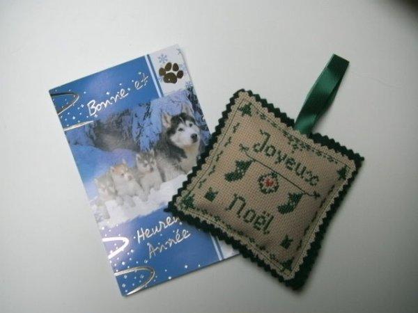 Cadeau et carte reçus de Nadia
