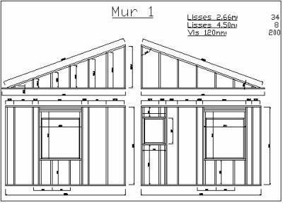 plan de debit des panneaux d 39 ossature construction de notre maison en bois. Black Bedroom Furniture Sets. Home Design Ideas