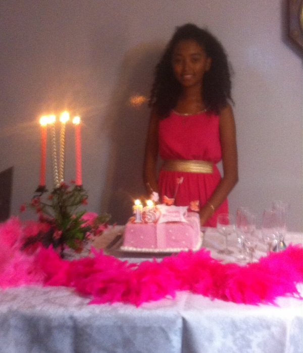 Happy 15th Birthday à ma fille chérie