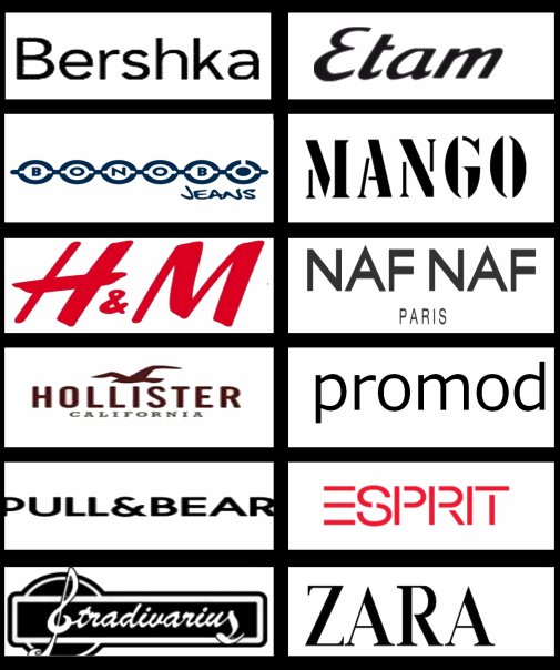 Ma Selection de Magasin pour Rester au Top de la Mode ! Ces magasins sont ceux auquels je vais le plus souvent et Toi , Connais tu tous ces Magasin, Les Aimes tu ?!