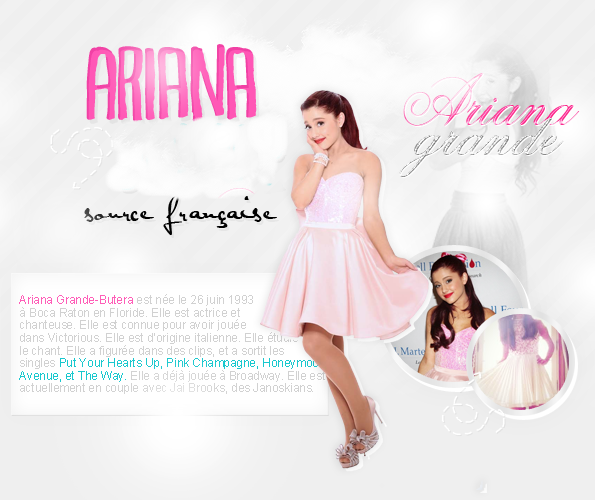 Une présentation de notre belle Ariana s'impose