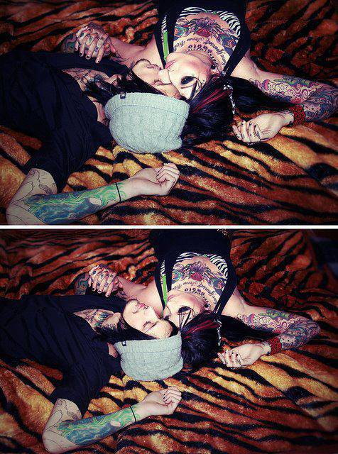 """>> """" The world is divided into two kinds of people : those who have tattoos and those who are afraid of people with tattoos"""""""