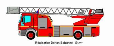 Dessin d 39 une epa echelle pivotante automatique fotos - Dessiner un camion de pompier ...