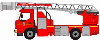 Dessin d 39 une epsa echelle pivotante semi autaumatique - Dessiner un camion de pompier ...