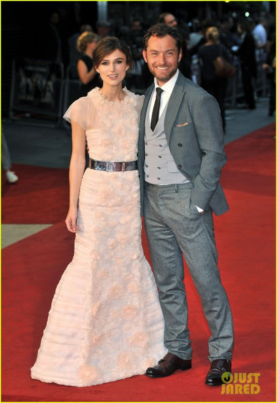 Keira Knightley & Jude Lawà l'avant-première de 'Anna Karenina' à Londres, le 04-09-2012