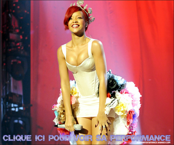 Rih' aux MTV EMA 2010 ( tapis rouge + performance ) Madrid - 7 Novembre
