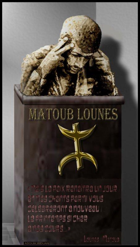 Buste de Matoub Lounes  fait pas les Amazigh du Maroc