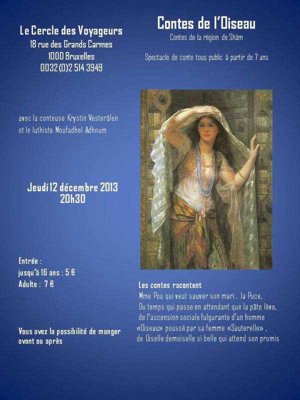 soirée conte à Bruxelles (12/12/2013)