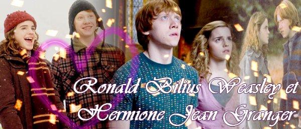 Ronald Bilius Weasley et Hermione Jean Granger