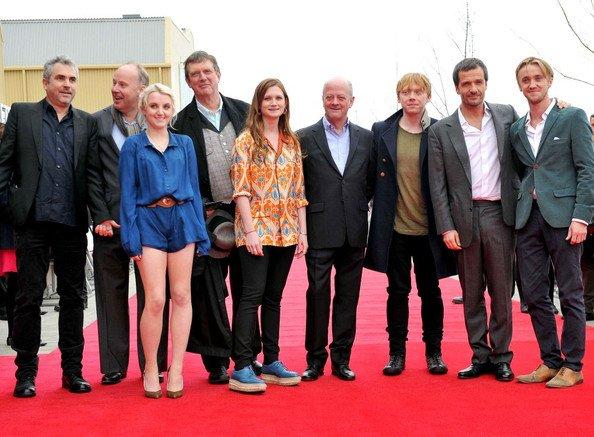 Les acteurs a Londres pour la grande ouverture des studios