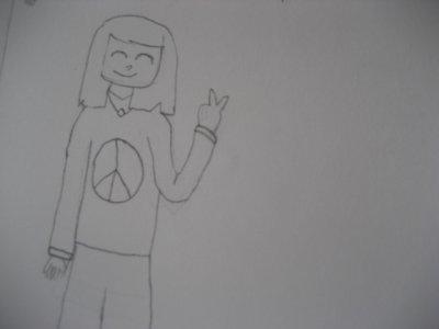 La fille peace and love