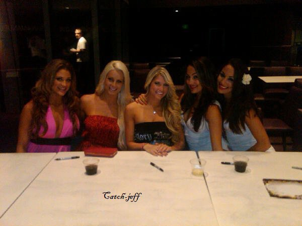 Eve torres , Maryse , Kelly kelly , Bella twins