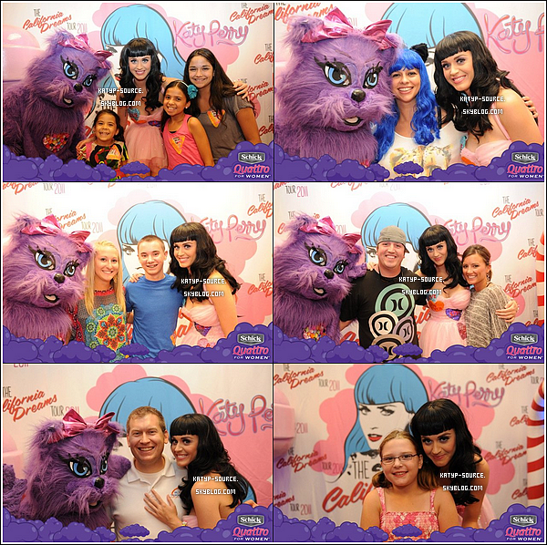 17 Août 2011 - Katy et ses fans aux Meet & Greet du California Dreams Tour à Kansas City, Missouri.