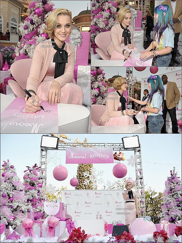 15/12/11: Katy Perry été au lancement de son nouveau parfum « Meow! » à Los Angeles. Top ou Flop?