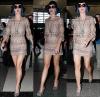 17/01/12: Katy Perry a été vu à l'aéroport de LAX à Los Angeles toujours avec ses cheveux bleus...
