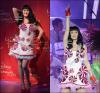 Katy Perry a sa statue de cire au musée de Madame Tussaud à Vienne, Autriche.