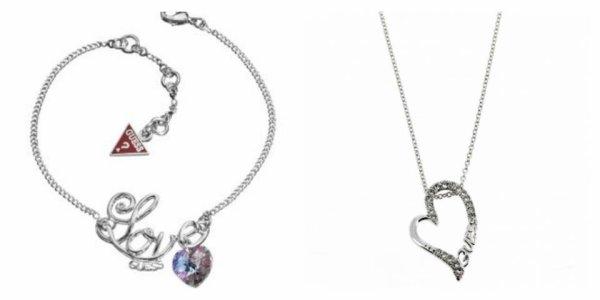 collier et bracelet guess authentique