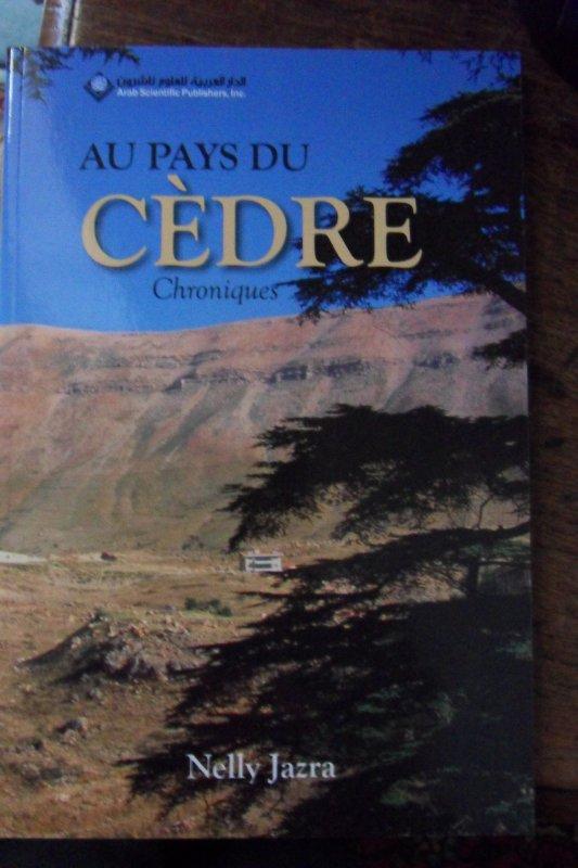 Publication de mon livre Au Pays du Cèdre