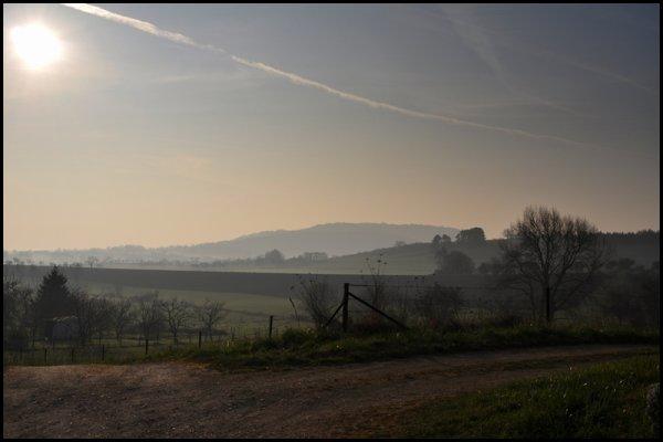 Ce matin, un peu avant 8 heures, grand soleil !!