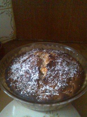 Gâteau aux pommes , noix et canelle