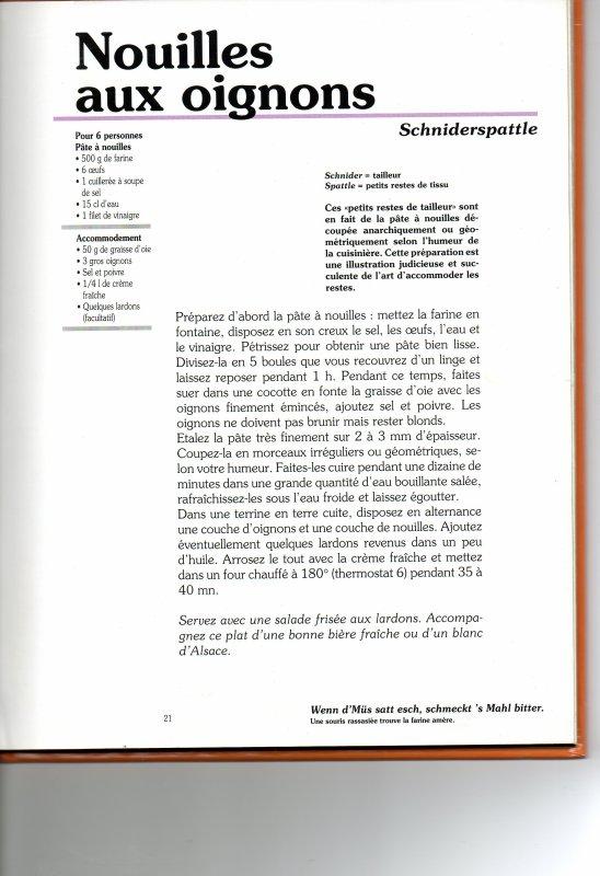 SCHIDERSPATTLE ( recette Alsacienne )