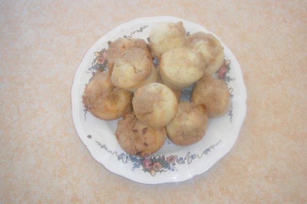 Muffins aux quetsches façon crumble