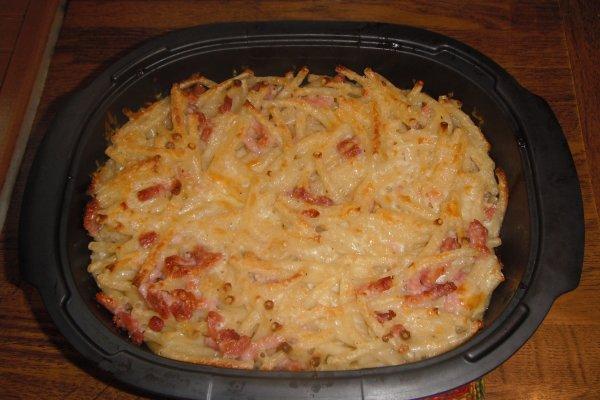 Gratin de macaroni Carbonara