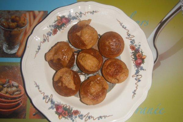 Muffins au coeur fondant de caramel au beurre salé