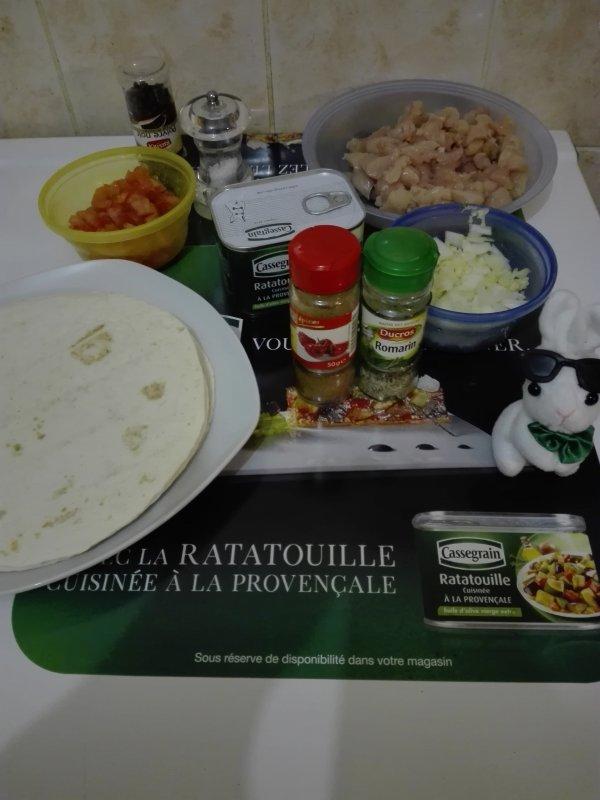 Fajitas de poulet à la Ratatouille, romarin et paprika By Cassegrain #Trnd