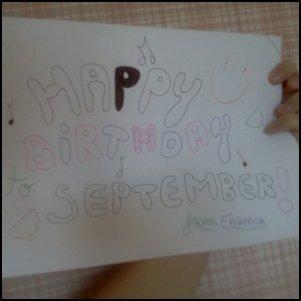 Happy Birthday September !
