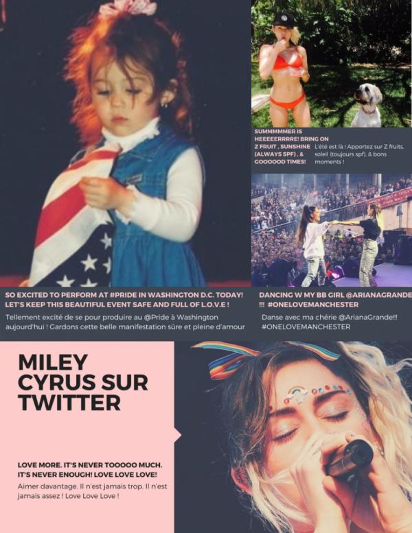 Twitter de Star : Miley Cyrus