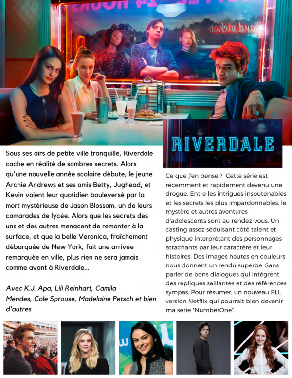 Riverdale : Ma série fav du moment