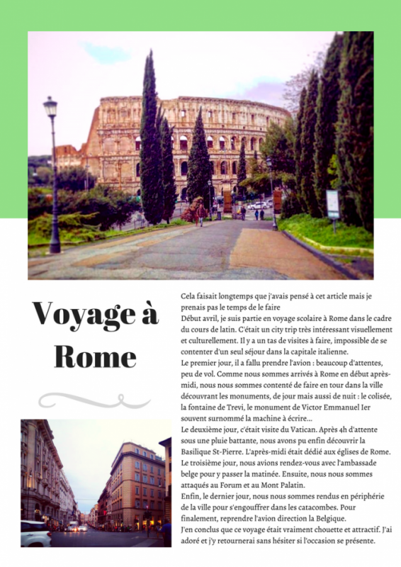 Compte rendu de mon city trip italien