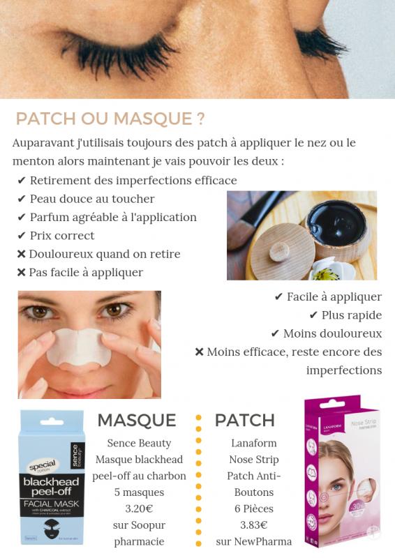 Je teste : Patch ou masque anti points noirs ?